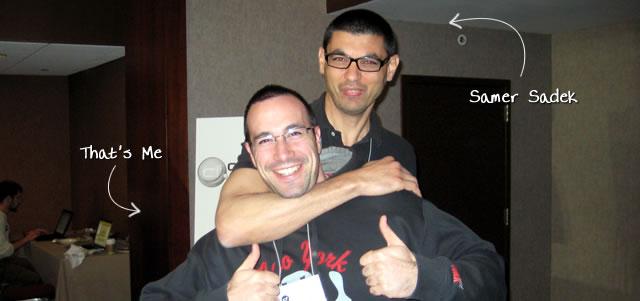 Ben Nadel at cf.Objective() 2009 (Minneapolis, MN) with: Samer Sadek