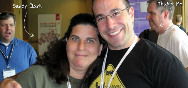 Ben Nadel at CFUNITED 2010 (Landsdown, VA) with: Sandy Clark