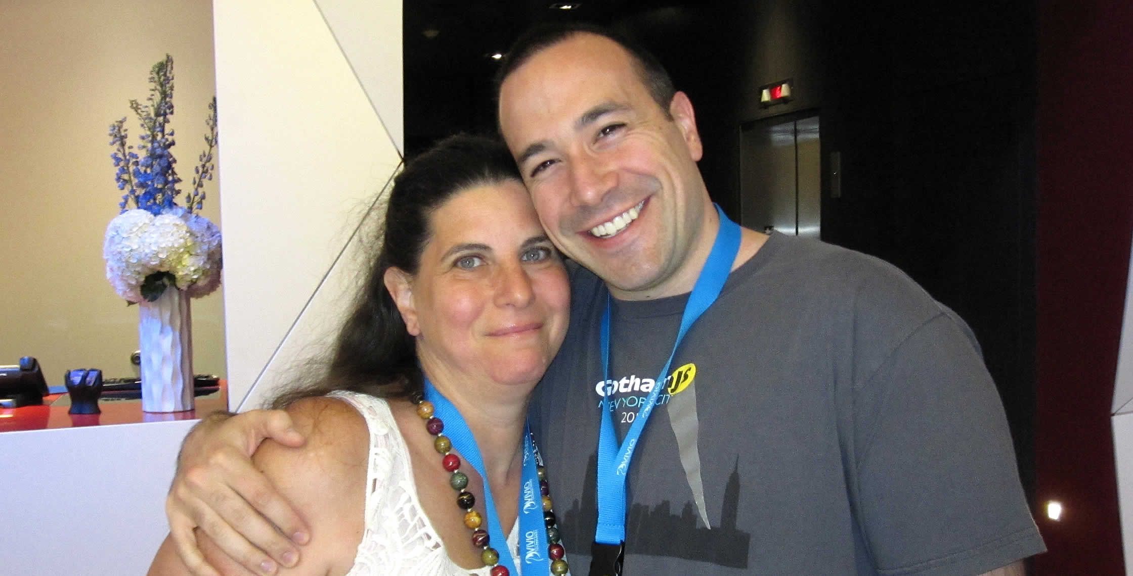 Ben Nadel at cf.Objective() 2013 (Bloomington, MN) with: Sandy Clark