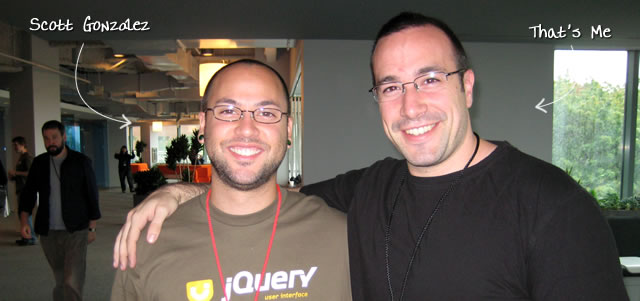 Ben Nadel at the jQuery Conference 2009 (Cambridge, MA) with: Scott Gonzalez