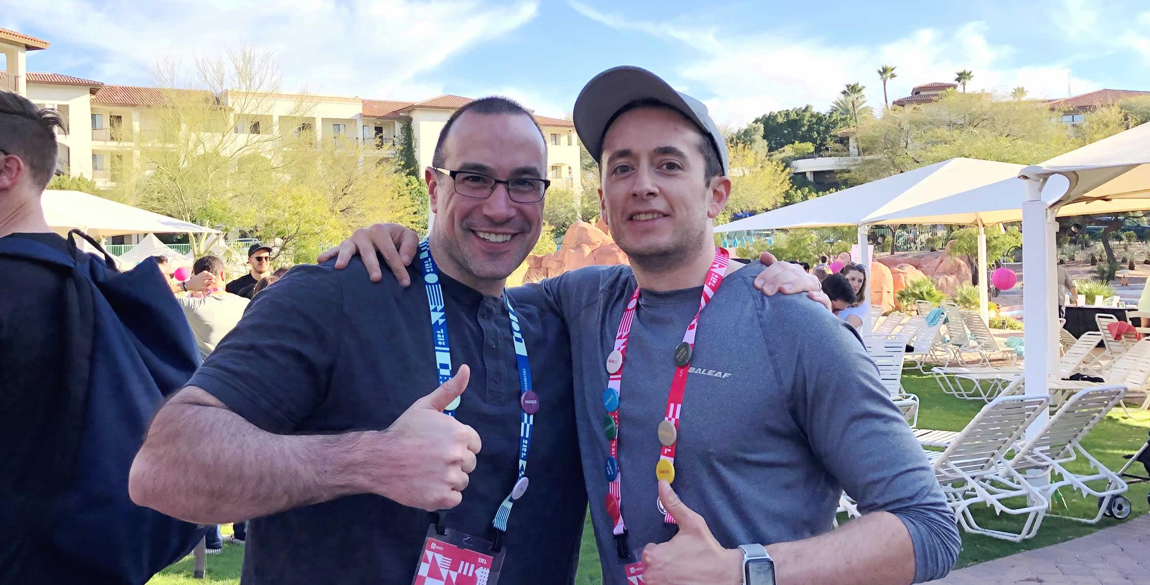 Ben Nadel at InVision In Real Life (IRL) 2019 (Phoenix, AZ) with: Scott Markovits