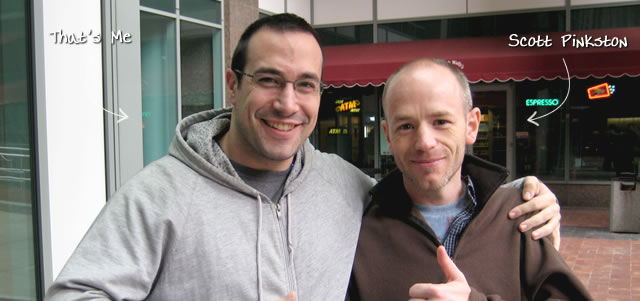 Ben Nadel at CFinNC 2009 (Raleigh, North Carolina) with: Scott Pinkston