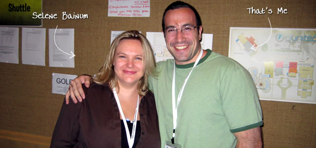 Ben Nadel at CFUNITED 2009 (Lansdowne, VA) with: Selene Bainum