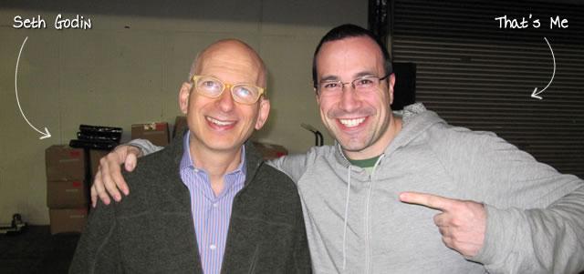 Ben Nadel at TechCrunch Disrupt (New York, NY) with: Seth Godin