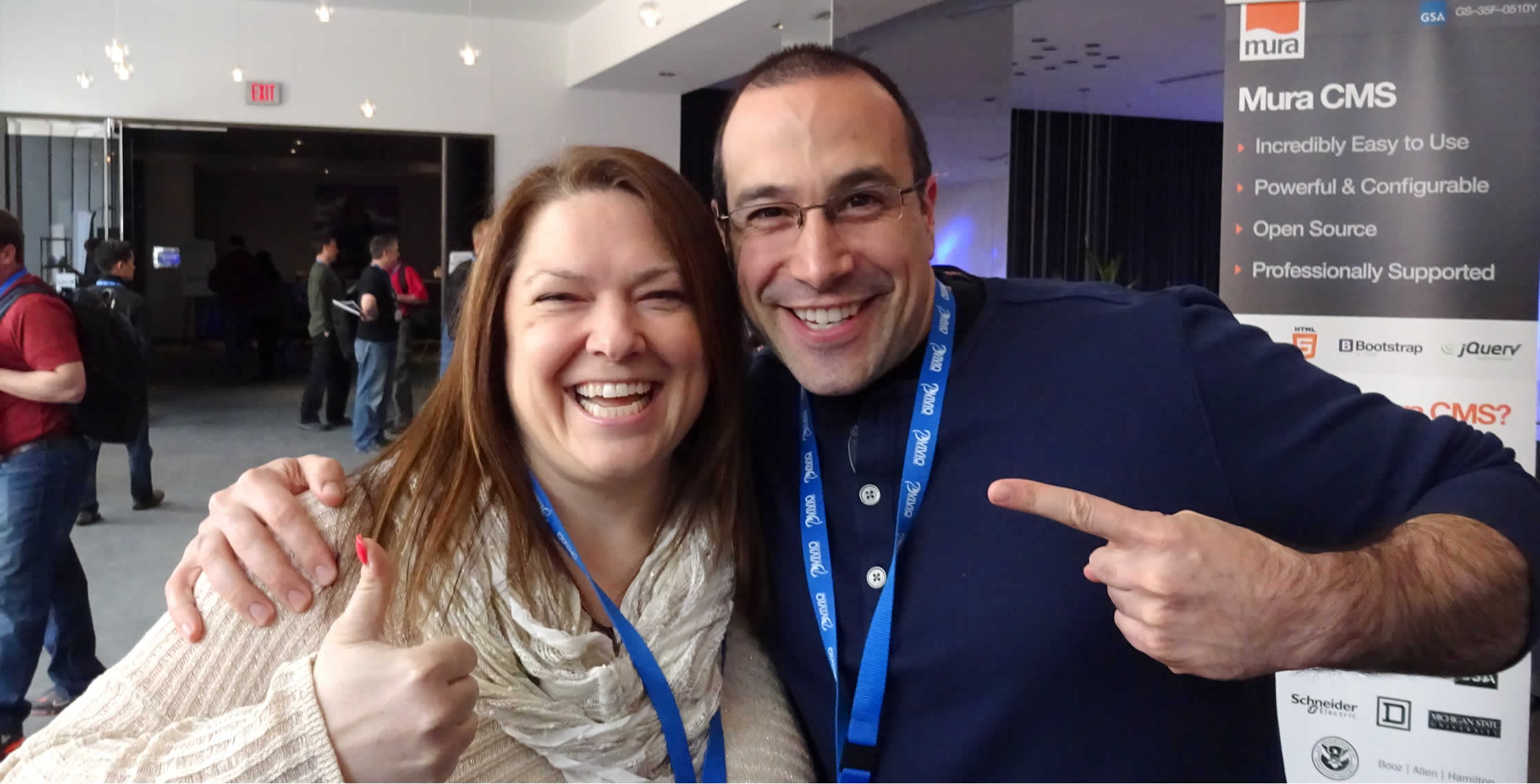 Ben Nadel at cf.Objective() 2014 (Bloomington, MN) with: Sharon DiOrio