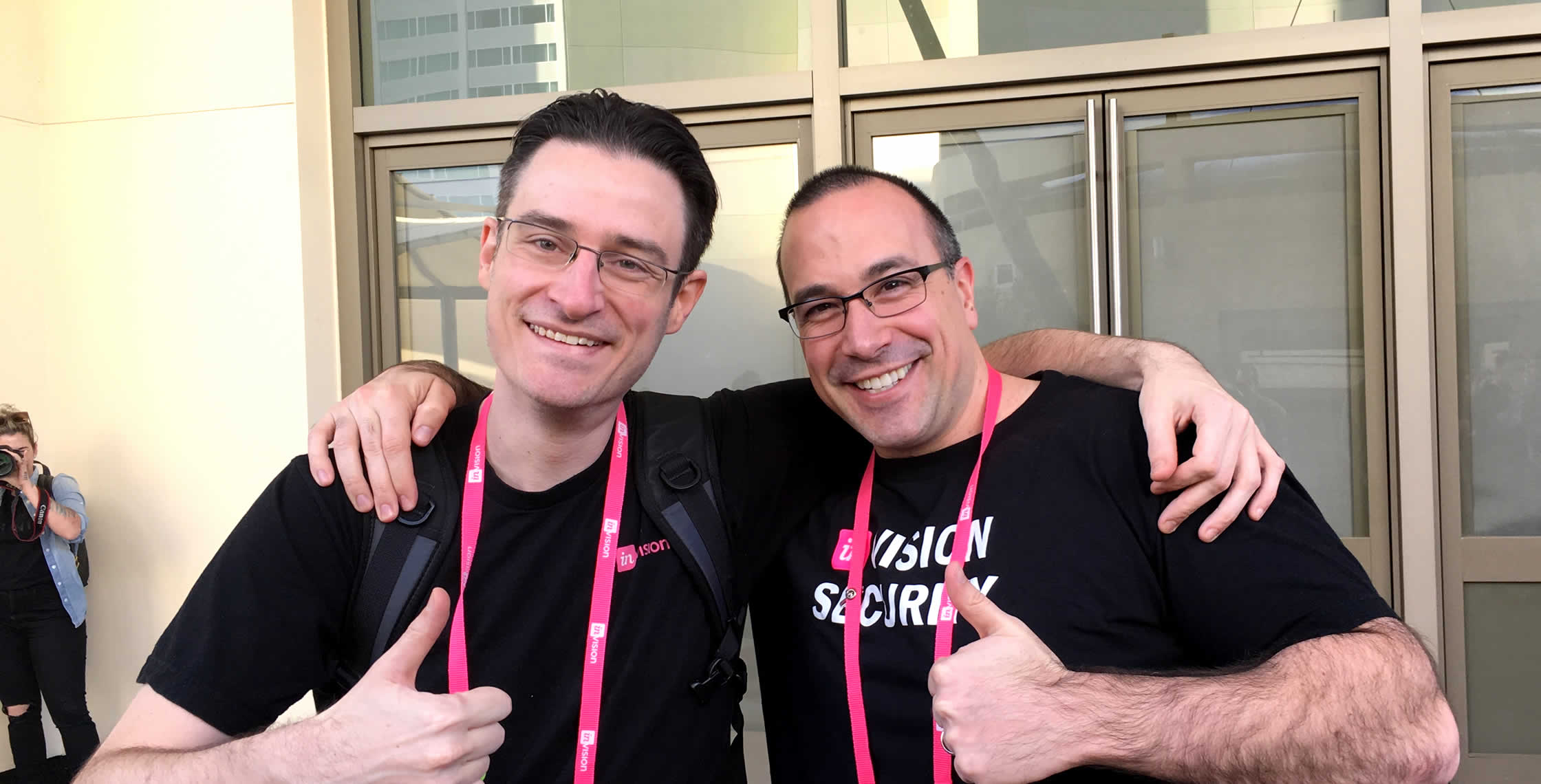 Ben Nadel at InVision In Real Life (IRL) 2018 (Hollywood, CA) with: Shawn Grigson