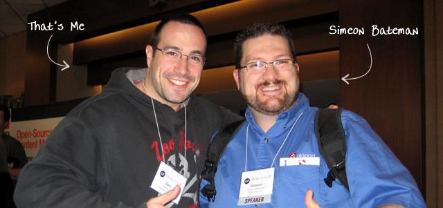 Ben Nadel at cf.Objective() 2009 (Minneapolis, MN) with: Simeon Bateman