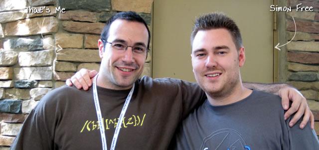 Ben Nadel at CFUNITED 2009 (Lansdowne, VA) with: Simon Free