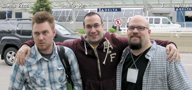 Ben Nadel at cf.Objective() 2010 (Minneapolis, MN) with: Simon Free and Jason Dean