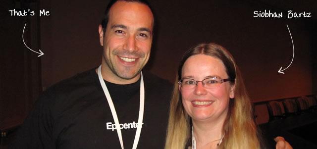 Ben Nadel at CFUNITED 2010 (Landsdown, VA) with: Siobhan Bartz
