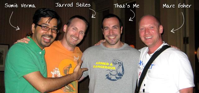 Ben Nadel at CFUNITED 2009 (Lansdowne, VA) with: Sumit Verma, Jarrod Stiles, and Marc Esher