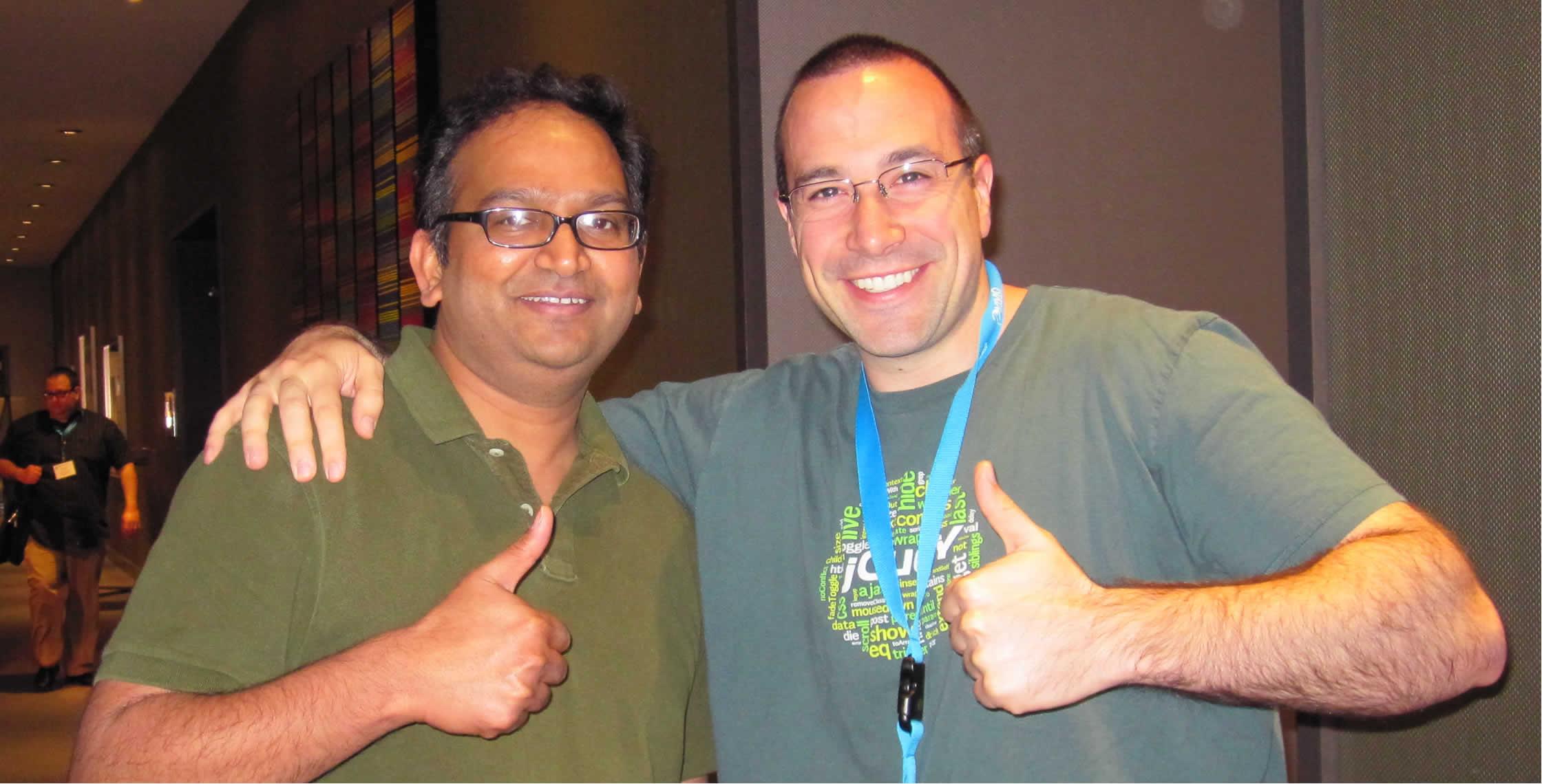 Ben Nadel at cf.Objective() 2013 (Bloomington, MN) with: Sunil Mendu