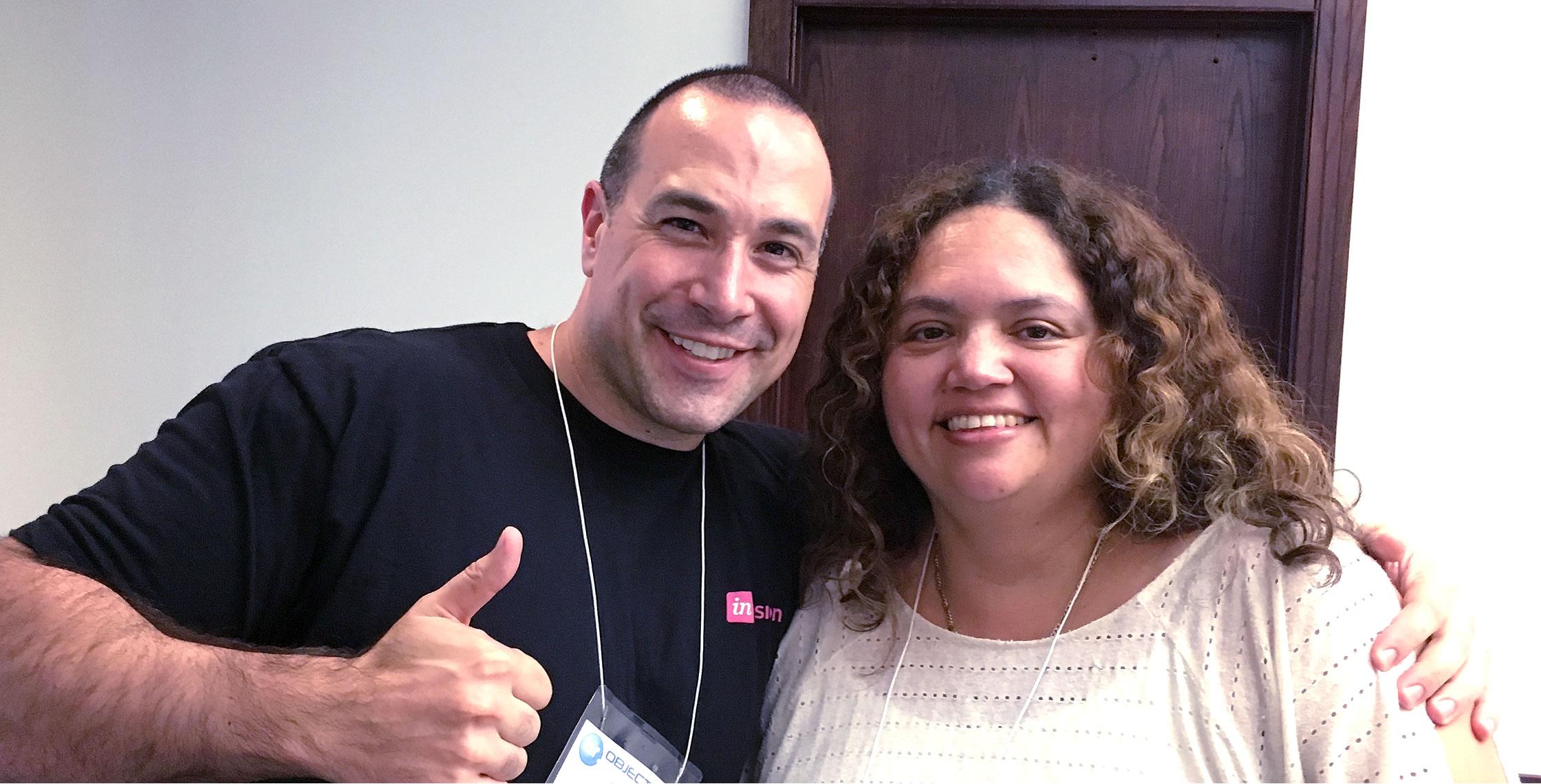 Ben Nadel at cf.Objective() 2017 (Washington, D.C.) with: Susan Brun