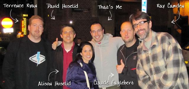Ben Nadel at Scotch On The Rock (SOTR) 2010 (Amsterdam) with: Terrence Ryan, David Huselid, Alison Huselid, Claude Englebert, and Ray Camden