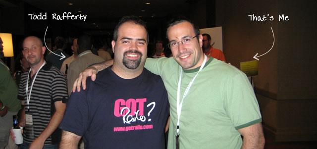 Ben Nadel at CFUNITED 2009 (Lansdowne, VA) with: Todd Rafferty