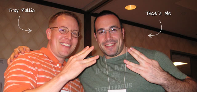 Ben Nadel at cf.Objective() 2009 (Minneapolis, MN) with: Troy Pullis