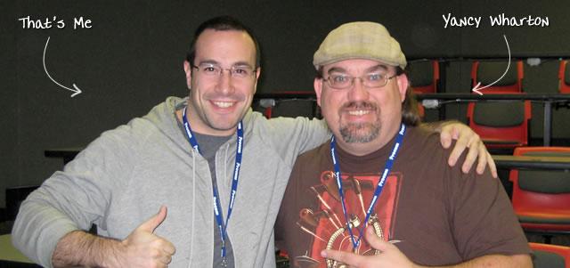 Ben Nadel at CFinNC 2009 (Raleigh, North Carolina) with: Yancy Wharton