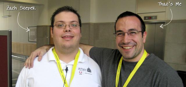 Ben Nadel at BFusion / BFLEX 2009 (Bloomington, Indiana) with: Zach Stepek