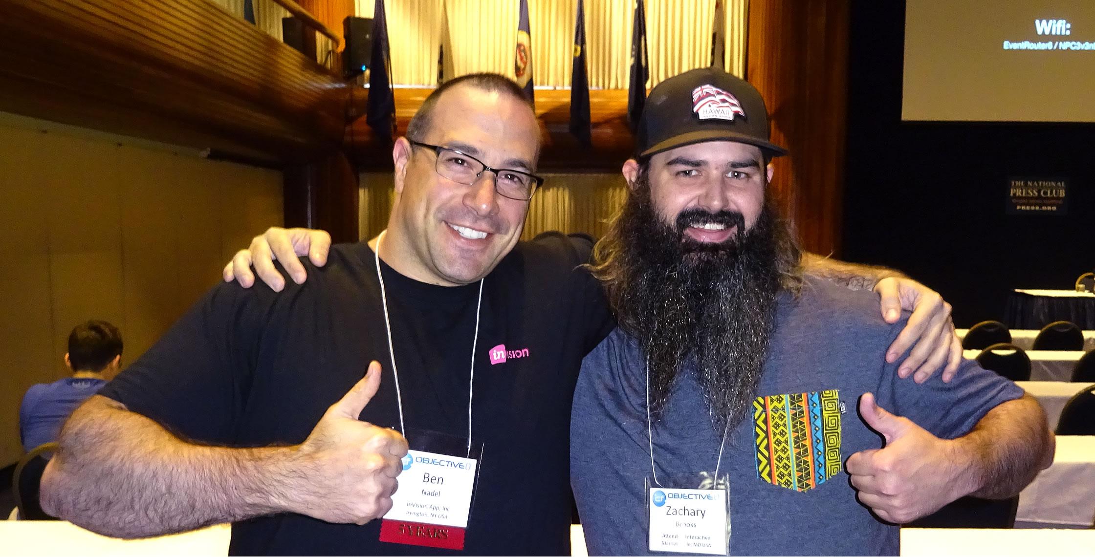 Ben Nadel at cf.Objective() 2017 (Washington, D.C.) with: Zachary Brooks