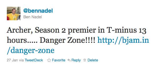 Archer, Season 2 Premier - Danger Zone!!!!!!