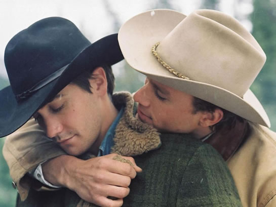 Brokeback Mountain features two cowboys in love - which is really hot for women!
