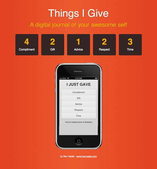 Things I Give - A Digital Journal Of The Awesome You.