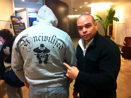 UNCIVILIZED Brand Clothing By Mario Valero. Deadlifter With Massive Weight.
