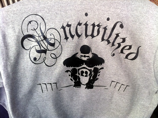 UNCIVILIZED Brand Clothing By Mario Valero. The Most Badass UNCIVLIZED Design Yet!