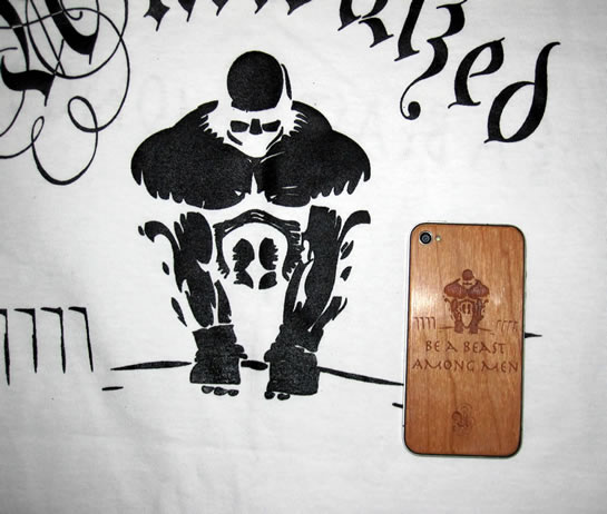 UNCIVILIZED Brand custom wood iPhone back from JackBacks.