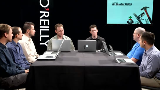 Mastering Git video series by Matthew McCullough and Tim Berglund.