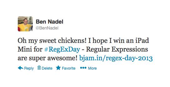 Regular Expression Day 2013 - Tweet to enter to win an iPad Mini!