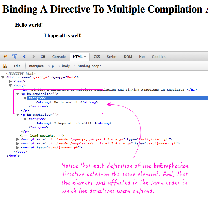 Defining duplicate directives in AngularJS.