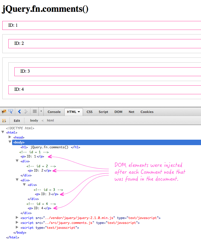 jQuery.fn.comments() example.