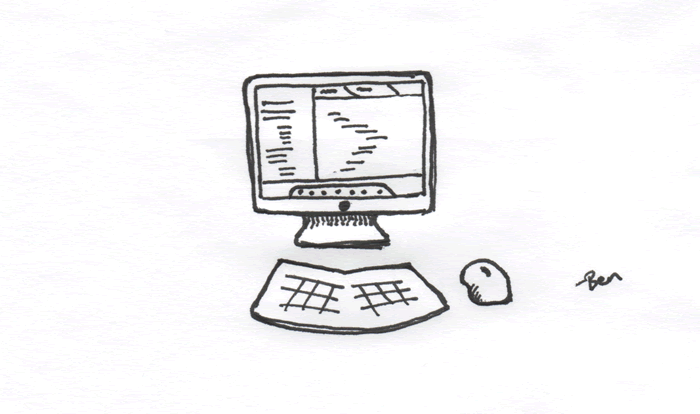 The user experience (UX) of having a single computer monitor.