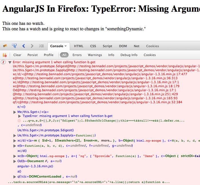 Firefox type-error with AngularJS.