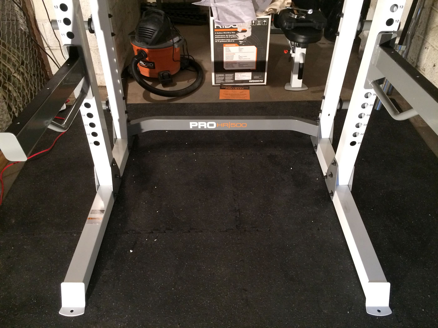 Building a gym - fitness gear pro half rack.