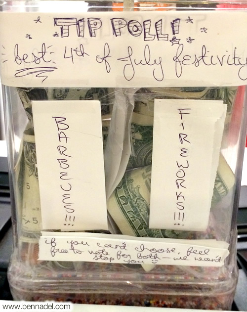The UX of tipping - a poll for the best 4th of July festivity.