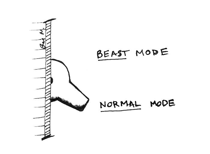 The user experience (UX) of ceremony and self-priming. Enter beast mode.