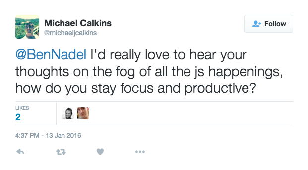 Michael Calkins asks - how to stay productive and focused.