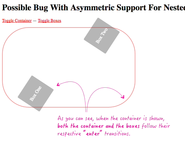 Asymmetric support for enter and leave animations - showing enter animation in Angular 2 RC 6.