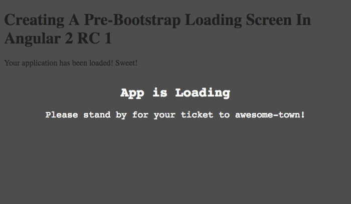 Creating a pre-bootstrap loading screen in Angular 2 RC 1.