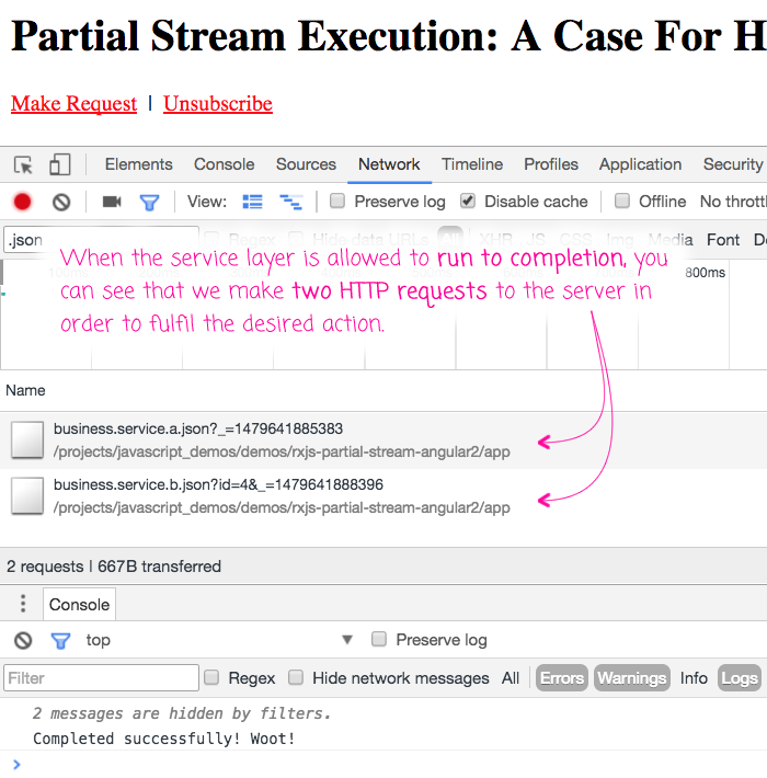 Partially executed RxJS streams - a case for 'hot' streams in Angular 2 services.