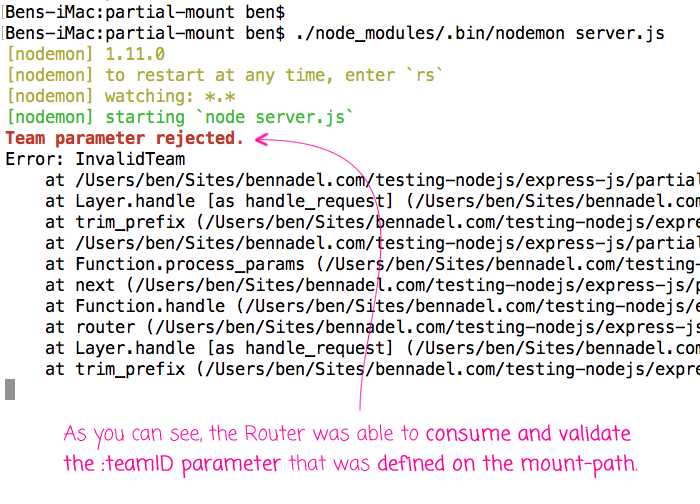 Consuming mount-path parameters in middleware in Express.js and Node.js.