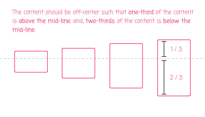 Using CSS flexbox to keep content slightly off-center.