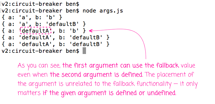ES6 function arguments defaults don't have to be exclusive to traiing arguments.