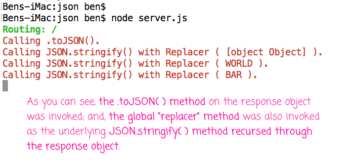 Express.js uses JSON.stringify() under the hood, which exposes some surprising behaviors.