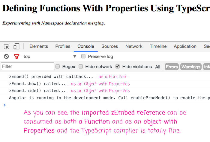 Using TypeScript declaration merging to create Functions with Properties.