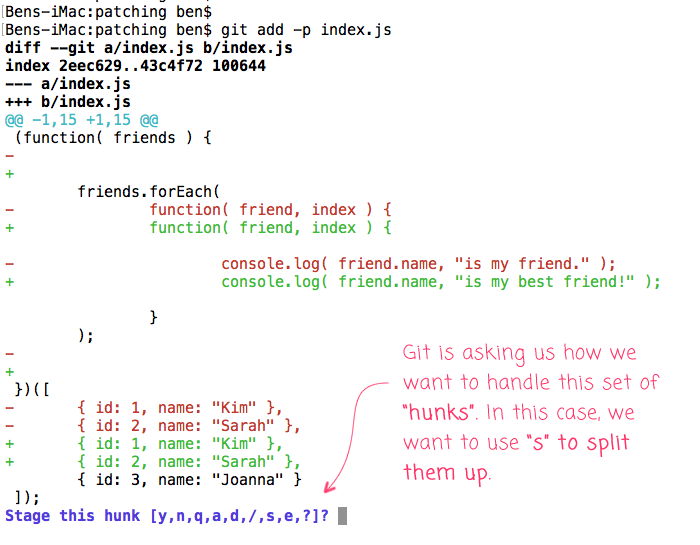 Using git add --patch to split commits and rewrite history.
