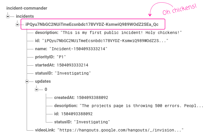 Incident Commander now synchronizes data to a remote Firebase database.