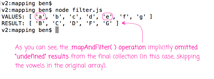 Mapping and filtering in a single operation in JavaScript.